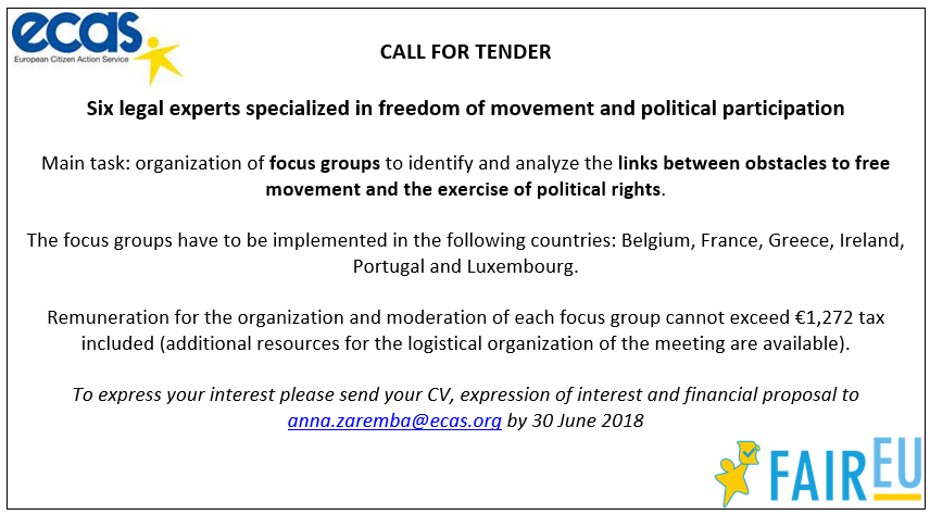 Open Call for Legal Experts