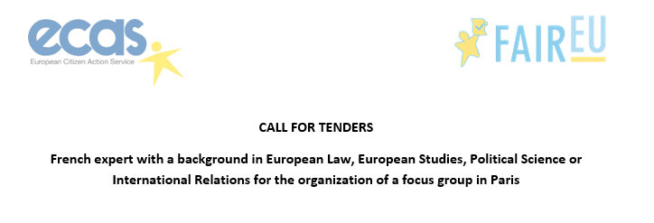 Open Call for French Expert